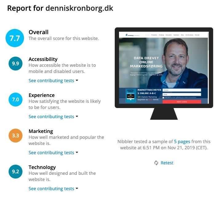 Hjemmeside analyse